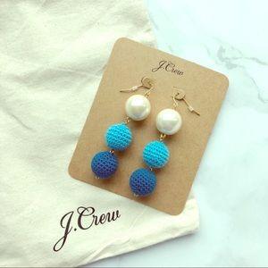 NEW J Crew statement knit knot earrings